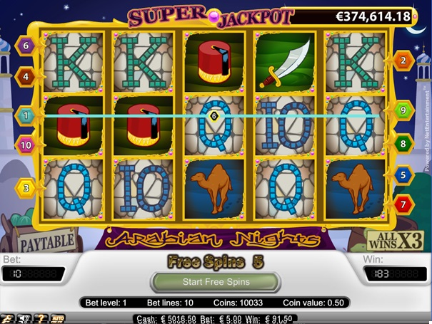 Arabian nights slot 16566