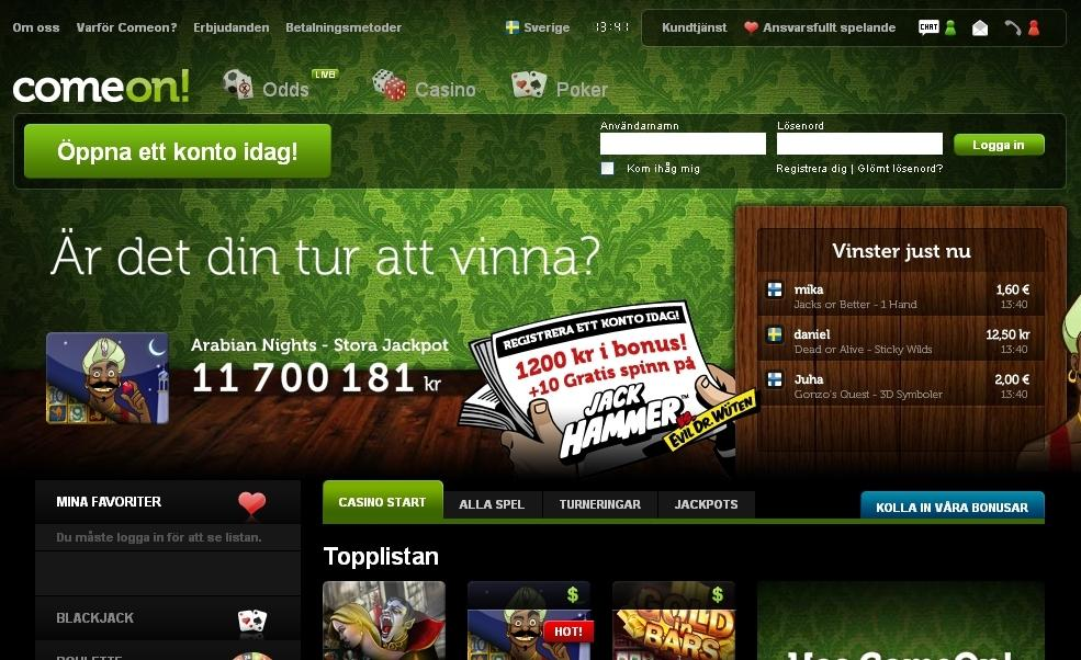 Casino välkomstbonusar en party