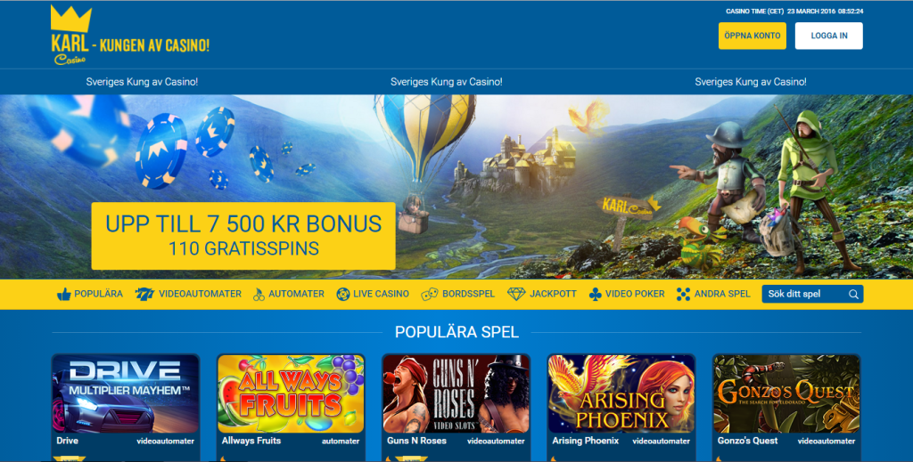 Casino provspela svenska online south